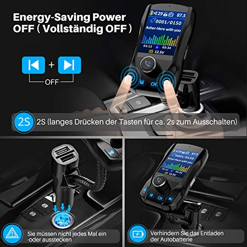 Omorc Bluetooth FM Transmitter - 7