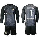 HÄndÄnvīc - Conjunto de camiseta de fútbol para niños, diseño de equipo de fútbol negro S