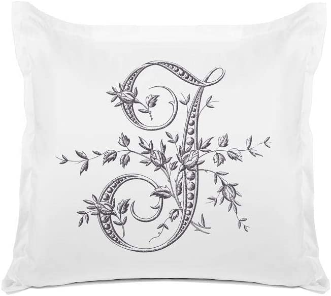 Di Lewis Pillowcase - Vintage French Monogram Letter J Inexpensive Pillow Max 66% OFF Ca