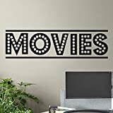 Película simple Signo Tira de película Cine en casa Cine Showtime Logo Etiqueta de la pared Vinilo Arte Calcomanía Dormitorio Sala de estar Estudio Club Oficina Decoración para el hogar Mural
