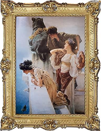 A.TADEMA A coign of vantage - Cuadro barroco (70 x 90 cm)