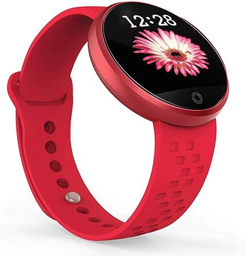 Montre intelligente pour femme Bracelet Fitness Tracker Surveillance de la pression artérielle du rythme voiturediaque Montre de sport Bracelet de rappel de période physiologique Montre IP68 étanche