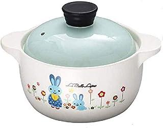 WCY Conejo patrón de la cazuela de cerámica Olla, quemadores de cerámica de Utensilios de Cocina, Sopa de Olla Pan cazuela de Barro Olla de Barro Pot Saludable Crisol de guisado yqaae
