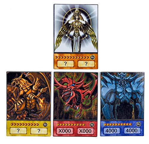 Orica Karten-Set: Horakthy & 3 Ägyptische Götter - Obelisk, Slifer & Ra Common Karten im Yugioh! Anime Design | inkl. 100 Arkero-G Small Card Sleeves