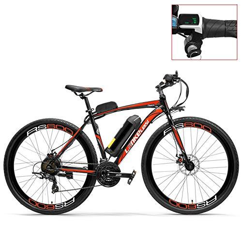 LANKELEISI Bicicleta eléctrica RS600 700C, batería de 36V