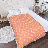 Ethereal WANVAY Super Soft Pompom Fringe Blanket,Armins futon Bed Blanket Throw Sheets 40