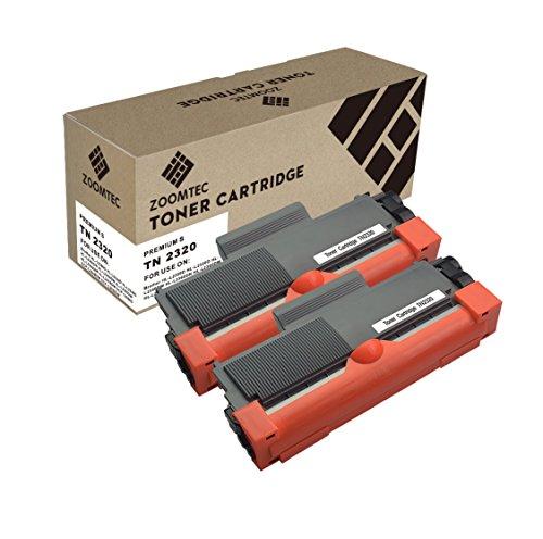 ZOOMTEC TN2320 Toner TN-2320 Cartuchos de tóner Compatible para Brother HL-L2340DW MFC-L2700DW HL-L2300D MFC-L2740DW DCP-L2520DW HL-L2360DN DCP-L2500D HL-L2360DW HL-L2365DW MFC-L2720DW, 2 Negro