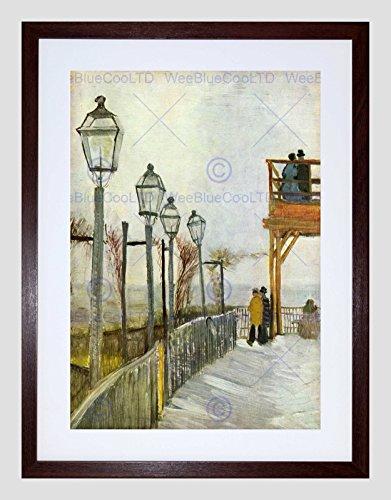 Wee Blue Coo Van Gogh Montmartre In Bovenste Molen Oude Meester Omlijst Muur Art Print
