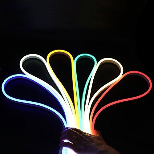 XUNATA 2m Flexible LED Neon Lights Blanco frio, Impermeable 220V 2835 SMD...