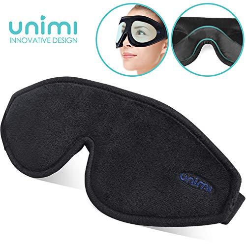 Unimi Augenmaske zum Schlafen, 3D Konturierte Schlafmaske und Augenbinde für Frauen, Männer, Superweich und bequem, 100{52e4f8ff55e7fc703b9ab2bca337a7bdc6e8888e56c6f02010832bd5200f4e94} Licht blockierend, 3D-Augenschutz für Reisen, Schichtarbeit, Nickerchen.