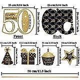 Blulu Geburtstag Party Dekoration Set Goldene Geburtstagsparty Herzstück Sticks Glitter Tischdekoration für. Geburtstagsparty Lieferungen, 24 Packungen (50 Jahre Geburtstag) - 2
