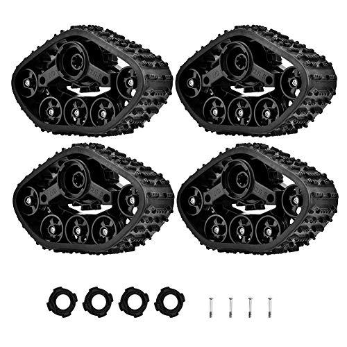 Auto-Reifen-Gummiraupen, 4pcs RC Auto-Reifen-Rad-Gummiraupen-Reifen für WPL 1/16 RC Militär-LKW RC-Raupen-Auto-Ersatzteile verbesserter LKW
