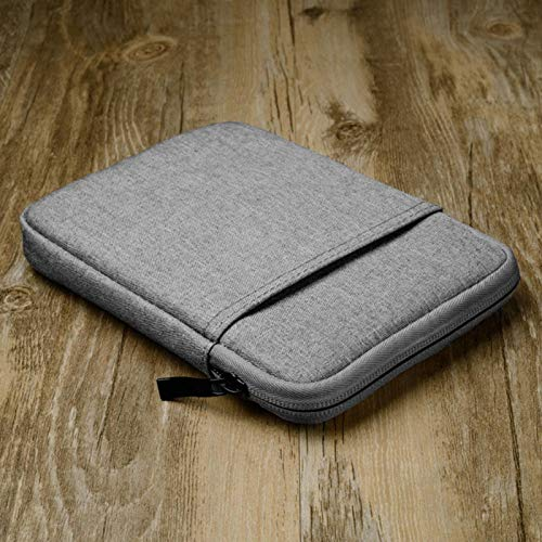 Kisbeibi Canvas Cover voor Kindle Paperwhite,6″ Kindle Paperwhite Case Zip Sleeve voor Kindle Paperwhite3 V-oyage 558/958/KV(grijs)