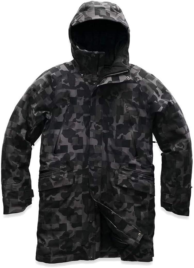 The North Face Men Cryos Apex Flex Wool Blend 800 Down Parka Gore-Tex in Black Jacquard XX-Large