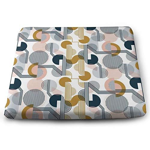 Sitzkissen, Memory-Schaumstoff, ultimativer Komfort und Weichheit, quadratisch, 38,1 x 33 cm, Bauhaus Retro