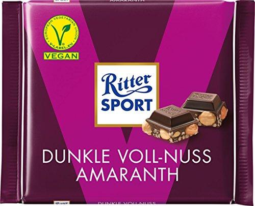 Ritter Sport Dunkle Voll-Nuss Amaranth, 100g