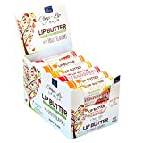 CHAP-LIP Lip Butter Lip Balm with Fruit Flavors, Cocoa Butter, Coconut Oil | Moisturizing Vitamin E & Total Hydration Treatment & Soothing Lip Therapy