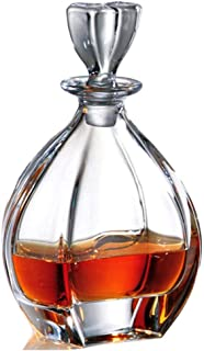 G.CHEN Crystal Whiskey Decanter - with Airtight Geometric Stopper - 750ml Brandy Decanter, for Scotch, Vodka/Wine Ideal Choice