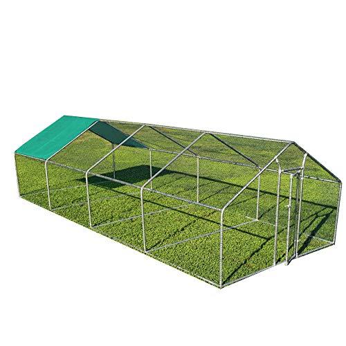 Notek Gabbia per Animali da Esterno - Recinto per Polli 3 x 8m x 2m H - 24 mq