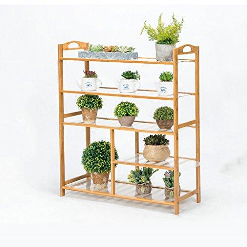 MLHJ NNIU- Multifonctionnel Balcon Fleur Racks Solide Bois Salon Pots De Fleurs Simple Multi-étages Étagère De Fleur (Taille : 80 * 26 * 90cm)