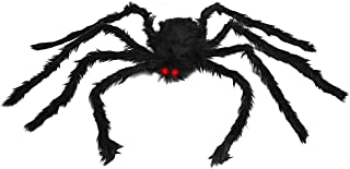 OWUDE 50 Inch Giant Spider, Halloween Hairy Spider Scary Fake Large Spider for Outdoor Decor Yard Decorations Scary Plush ...