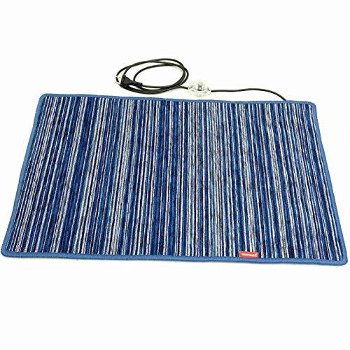 Chenille Blau 50x75cm Beheizbarer Teppich mobile Fußbodenheizung Infrarot