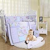 Brandream Baby Girl Purple Butterfly Crib Bedding Set Sweet Nursery Bedding 3 Piece Comforter Set