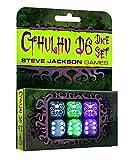 Steve Jackson Games 5927 Cthulhu D6 Dice - Juego de 6