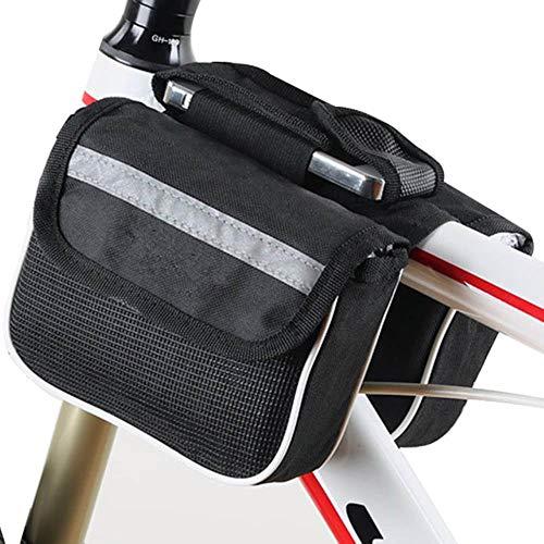 WOOAI Mountain Road Bike Bicycle Front Shelf Grand Sac de Rangement Accessoires de vélo de Cyclisme en Plein air YA88, Couleur: Noir