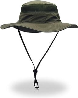 EONPOW Windproof Fishing Hats UPF50+ UV Protection Sun Cap Outdoor Bucket Mesh Hat 56-61cm