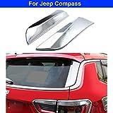 rong-car1 2 x verchromte Heckscheiben-Spoiler-Seitenflügel-Abdeckung, dreieckig,...