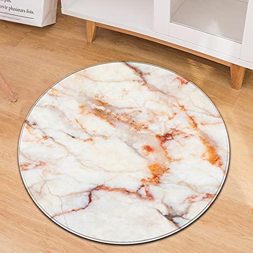 NTtie Calidad Alfombra,Adecuado para salón Dormitorio baño sofá Silla cojín La Alfombra Redonda de mármol es Adecuada para Salas de Estar y dormitorios Antideslizantes.