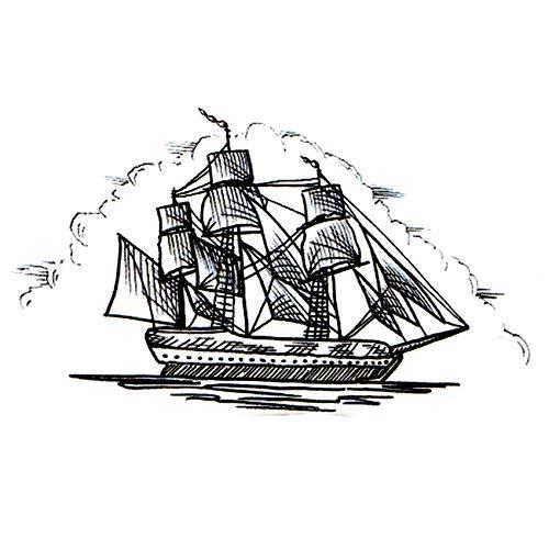 30 Stück Segelboot Schiff Wasserdicht Temporäre Tattoo Aufkleber Fake Tattoo Segelboot Die Flash TatuajesKids Tatoo Aufkleber