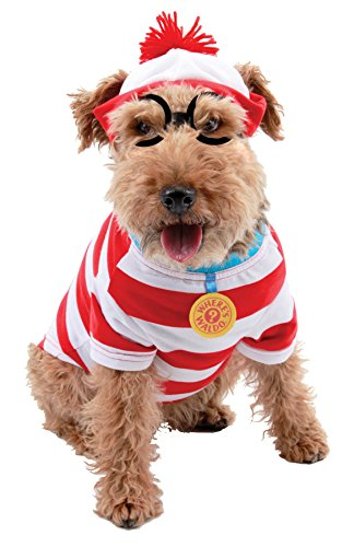 UHC Woof Where's Waldo Outfit Fancy Dress Puppy Halloween Pet Dog...