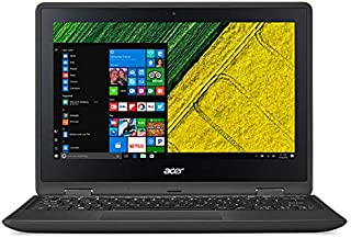Acer Spin 1 SP111-31-C2PZ 2-in-1 Laptop - Intel Celeron N3350, 11.6-Inch HD Touch, 500GB, 4GB, Eng-Arb-KB, Windows 10, Black