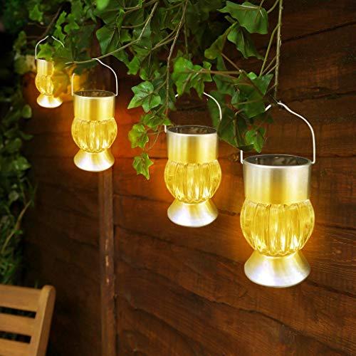 Rameng Lanterne Solaire Exterieur a Suspendre Lumière Solaire LED Jardin Decorative Étanche IP44