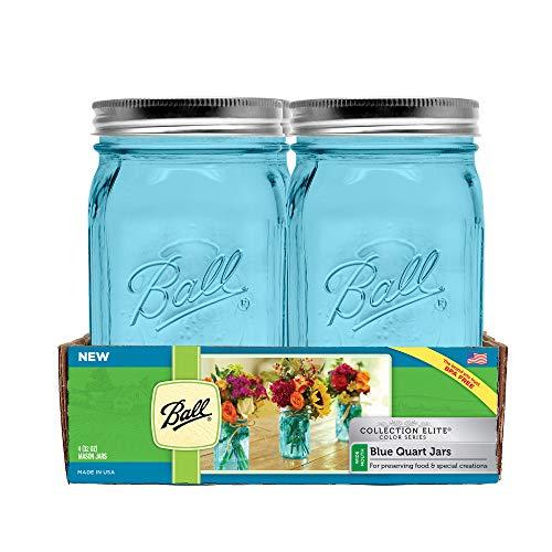 Bola Mason jar-32/oz Aqua azul bola de cristal colecci/ón Elite color Serie amplia mouth-set de 4/tarros