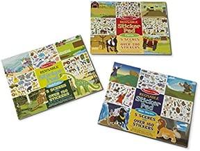 Melissa & Doug Reusable Sticker Activity Pad 3 Pack - Bible Stories, Farm, Habitats
