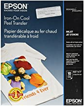 Epson Iron-on Cool Peel Transfer (8.5x11 Inches, 10 Sheets) (S041153),White
