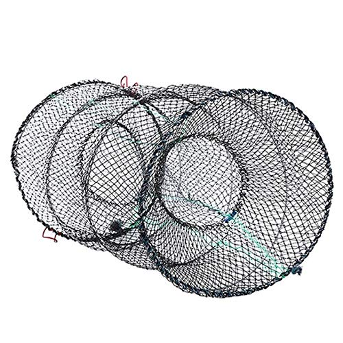 YMYGCC Fish trap 1PC Folding Fishing Net Baits Crab Fish Crawdad Shrimp Fishing Net Network Casting Trap Dip Fish Mesh Net Cage Cast Minnow 21 Color White