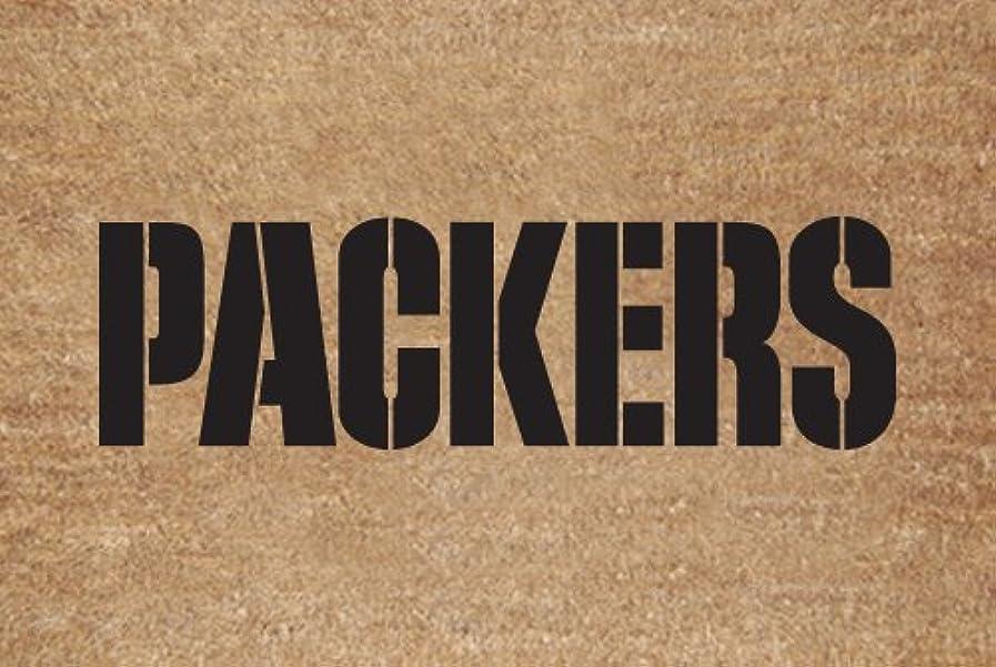 バルク盲目知覚するGreen Bay Packers Flocked Door Mat