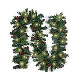 Festone natalizio per esterni illuminato a LED