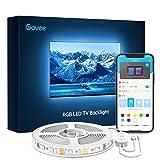 Govee Tira LED TV 3m, Luces LED RGB USB Retroiluminación Bluetooth Control de App y Caja de Control& Remoto, 16 Millones de Colores, Modo de Música y Escena, para TV 46-60 Pulgadas, Computadora
