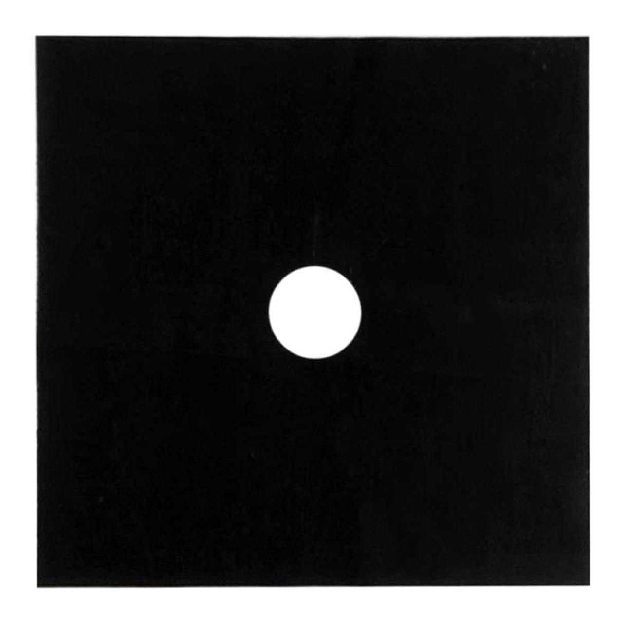 コモランマエレメンタル包囲テフロンガスホブオイルプロテクターライナーノンスティックシート再利用可能なストーブクリーンマットパッド炉表面保護パッドキッチンツール - 黒
