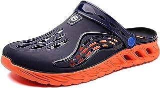 FDSVCSXV Mens Adults' Classic Clog, Lightweight Slip on Mules Kitchen Outdoor Beach Yard Pool Shower Sandals Slippers,Oran...