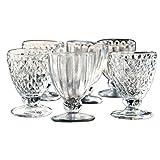 Loberon Glas 6er Set Harmonville, Glas, H/B/T/Ø ca. 12/7 / 7/7 cm, klar