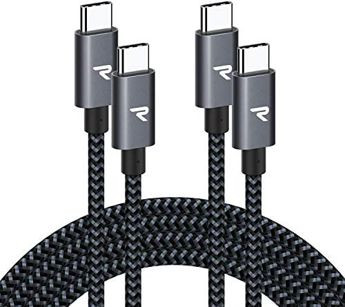 RAMPOW 60W USB C to USB C Cable 2 Pack 3 3ft Power Delivery Type C to Type C Cable Fast Charger product image