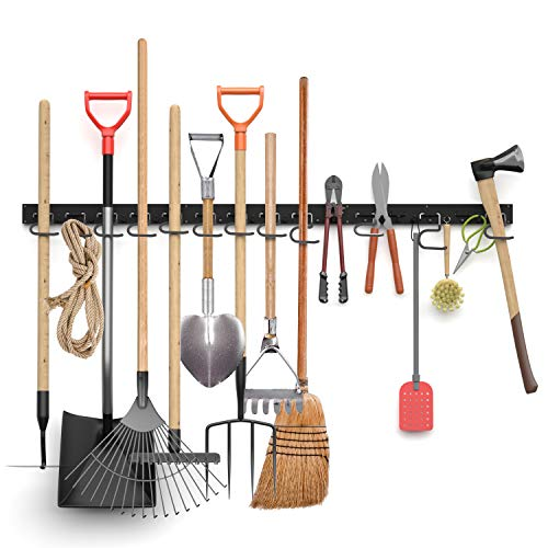 INCLY Garage Storage System 48 Inch, Wall Hooks and Hanger, Garden Organizer,Tool Holder Wall Mount for Garden Garage