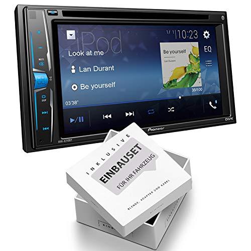 Pioneer AVH-A210BT 2-DIN Mediacenter Bluetooth USB Aux Bluetooth geschikt voor FIAT 500X vanaf 2015 zwart