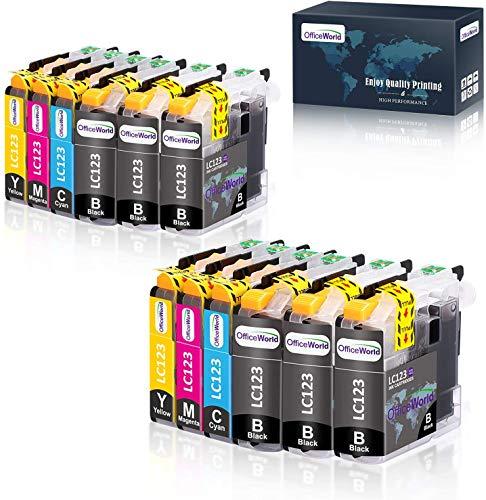 OfficeWorld Sostituzione per Brother LC123 Cartucce d'inchiostro Compatibile per Brother MFC-J6520DW DCP-J132W MFC-J470DW MFC-J4510DW MFC-J4410DW MFC-J870DW (6 Nero, 2 Ciano, 2 Magenta, 2 Giallo)